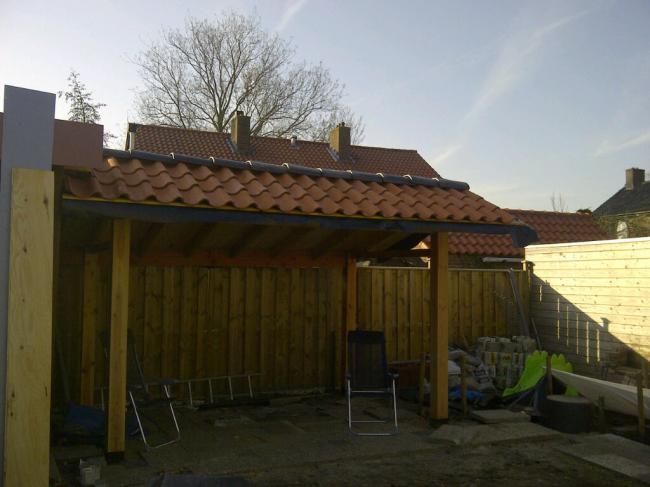 Overkapping bouwen moestuin forum voor en door for Foto op hout maken eigen huis en tuin